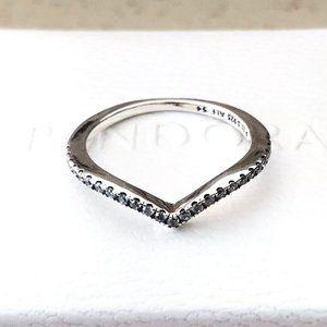 Pandora Sparkling Wishbone, Clear CZ Ring 196316CZ